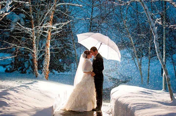 свадьба в зимний период